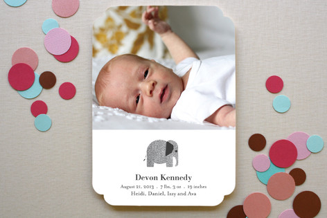 Wee Tweed Elephant Birth Announcements