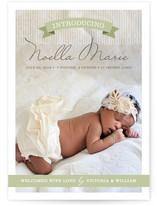Banner Baby Birth Announcements