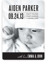 Bold Baby Birth Announcements