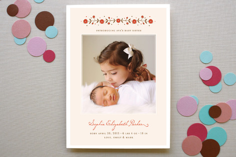 My Baby Sister Birth Announcements