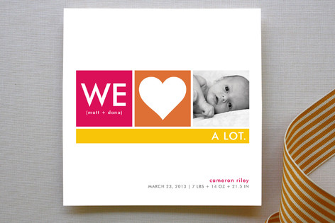 We Heart Baby Birth Announcements