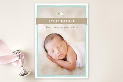Sweet Gardenia Birth Announcements