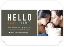 Hello Block Birth Announcements