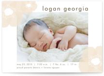 Soft Petals Birth Announcements