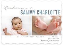 Floating Asterisk Birth Announcements