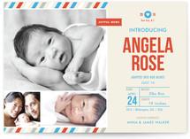 Khaki Baby Birth Announcements