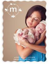 Petal Monogram Birth Announcements