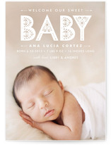 Lacy Paper Birth Announcements