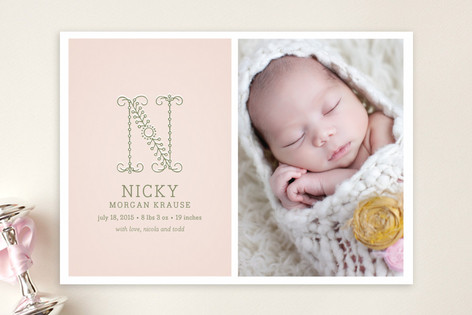 Initial Birth Announcements