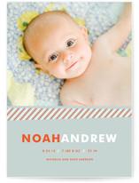 Preppy Birth Announcements