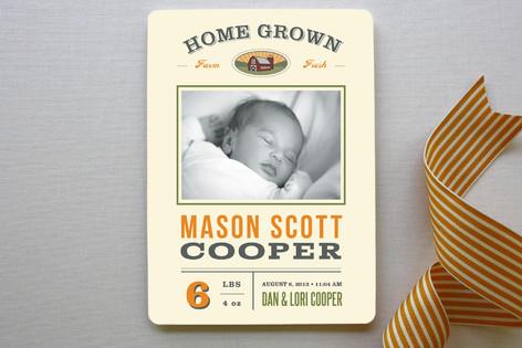 Home Grown Birth Announcements