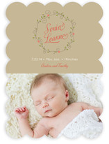 Pixie Wreath Birth Announcements