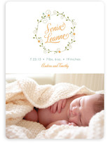 Pixie Wreath Birth Announcements