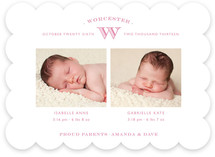 Pure Monogram Birth Announcements