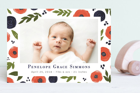 Poppies Birth Announcements