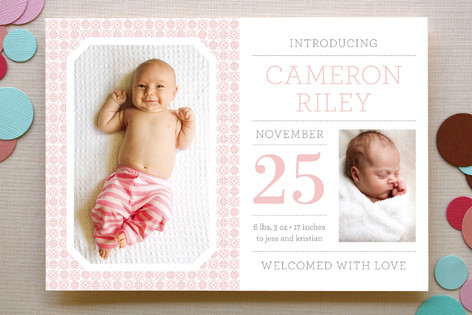 Mini Magazine Birth Announcements