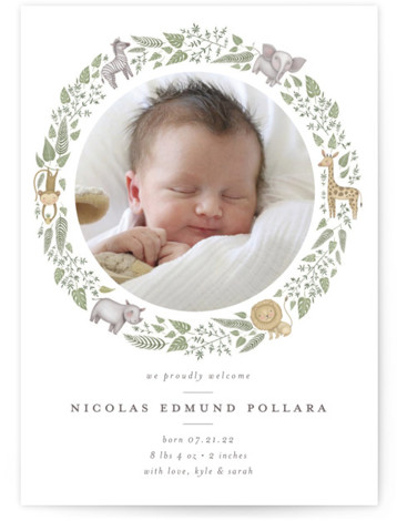 Tiny Safari Birth Announcements