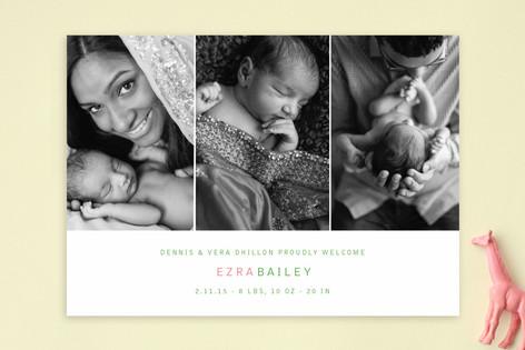 Three in a Row Birth Announcements