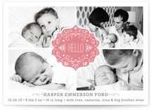 Festive Baby Birth Announcements