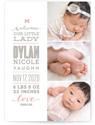 Little Girl Birth Announcements