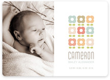 petal pattern Birth Announcements