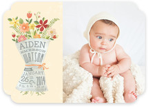 Newspaper Bouquet Birth Announcements
