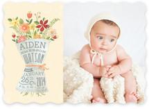 Newspaper Bouquet Birth Announcements