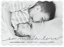 So Much Love To Give Birth Announcements