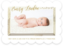 Beveled Frame Birth Announcements