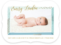 Beveled Frame Birth Announcements