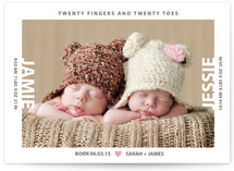 Twenty Fingers And Twenty Toes Birth Announcements