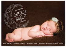Crescent Moon Birth Announcements
