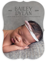 Simple Leaves Birth Announcements
