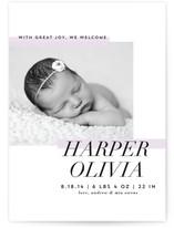Modern Mini Birth Announcements