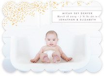 Modern Dotted Blooms Birth Announcements