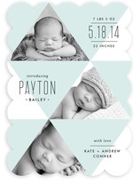 Geometric Baby Birth Announcements