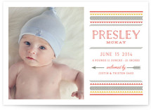 Festive Border Birth Announcements