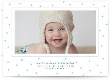 Modern Dot Birth Announcements