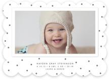 Modern Dot Birth Announcements