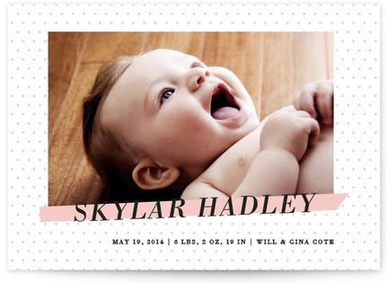 Crib Sheet Birth Announcements