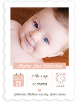 Baby Stats Birth Announcements