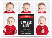 Baby Photo Blocks Birth Announcements