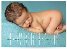 Big and Bold Name Birth Announcements