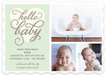 Hello Baby Love Birth Announcements