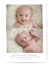 Clean Strokes Birth Announcements