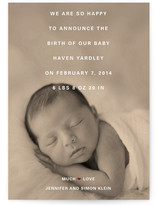 Film Grain Birth Announcements