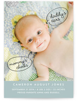Daddy's Eyes Birth Announcements
