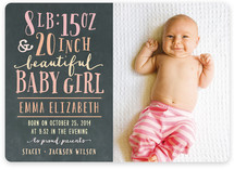 Girl Stats Birth Announcements