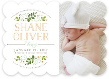Botanical Crest Birth Announcements