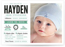 Infantgraphics Birth Announcements